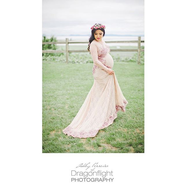 maternity photos, vancouver photographer dragonflight photography - ball gown for maternity - jolie chan couture.
