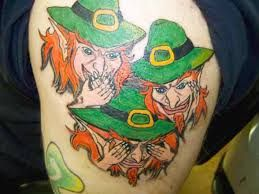 Hear no evil, See no evil, speak no evil Leprechauns .  - #Irish # Irishtattoo #talesofthetatt  -  www.talesofthetatt.com
