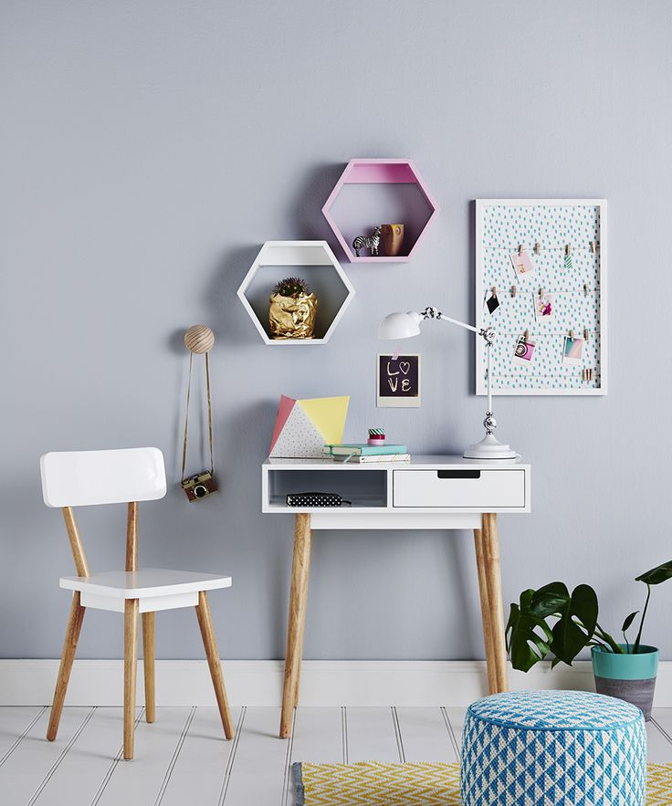 Adairs Kids Hunter Desk - White. Perfect for your little ones study nook. Available in-store