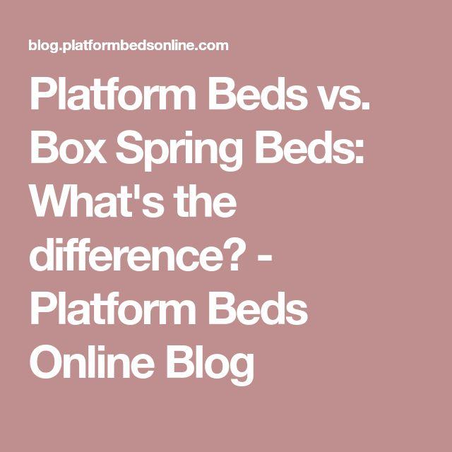 Platform Beds vs. Box Spring Beds: What's the difference? - Platform Beds Online Blog