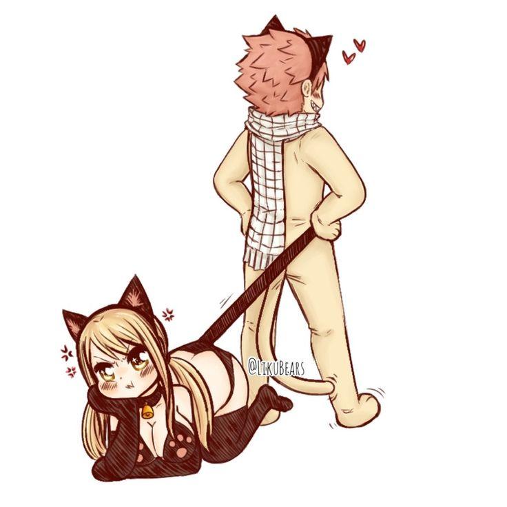 Картинки хвост феи нацу и люси кошка