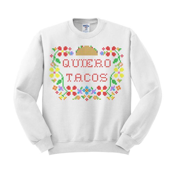 Cinco De Mayo - Quiero Tacos Crewneck Sweatshirt