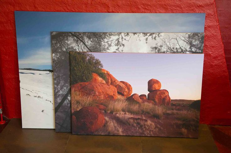 Three major different sizes of limited edition canvas. www.australianphotos.com.au