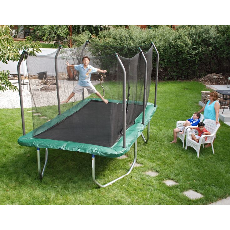 Have to have it. Skywalker Rectangle 8 x 14 ft. Trampoline with Enclosure $849.99