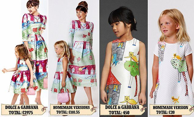 Dolce & Gabbana's new dress a five-year-old can make for £58 | Daily Mail Online
