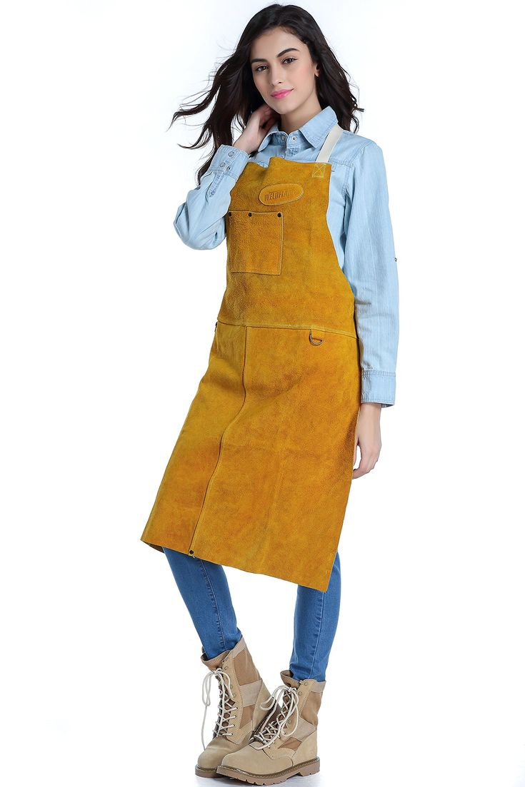 "Weldflame 24""x 42"" Kevlar Stitched Fire-resistant Welding Apron"