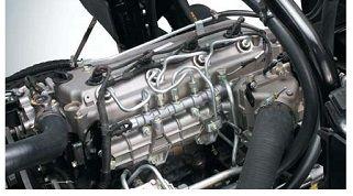 Camiones FUSO   Camión FA   Motor: El eficiente motor Turbo Diesel Intercooler de inyección directa Common Rail, con cuatro válvulas por cilindro, ha sido diseñado para ofrecer altos niveles de torque y potencia.