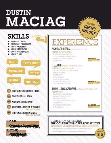 ... Resume on Pinterest | Infographic resume, Retro look and Simple resume