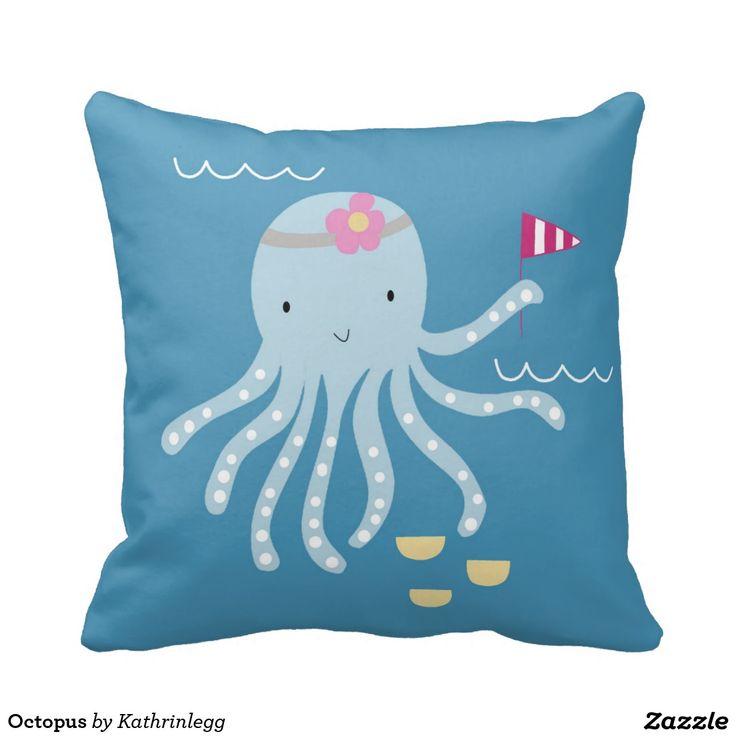 Octopus Throw Cushion
