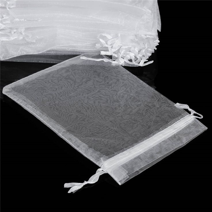 Best Price 50pcs A Lot 30x40cm White Organza Bags Customize Packaging Bags Strong Sheer Organza Pouch Yarn Bags