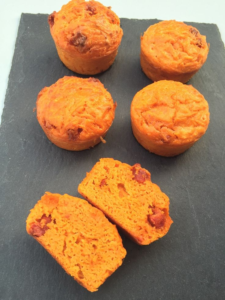 Cake sans gluten carottes chorizo 3 SP/muffin pour 12 muffins