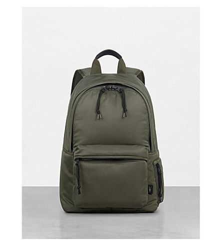ALLSAINTS Ridge shell rucksack. #allsaints #bags #lining #nylon #backpacks #cotton #
