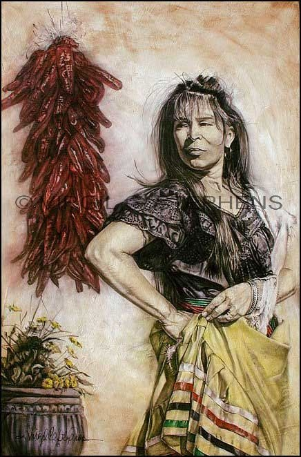 Image detail for -Mi Bella, Latino woman mexican giclee print from original oil painting ...