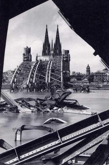 Hohenzollern Bridge, Cologne 1945 -- Karl Hugo Schmolz