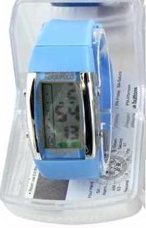Persopolis unisex watch with silicone strap light blue