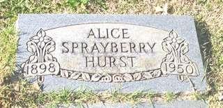 Alice Eva <i>Sprayberry</i> Hurst