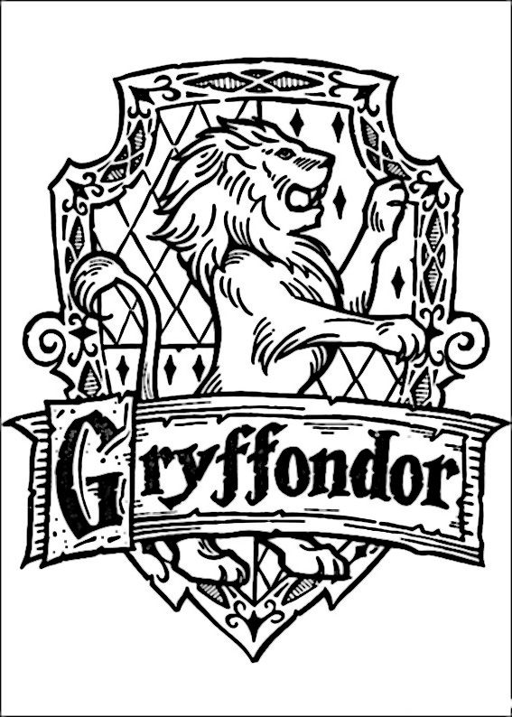 Harry Potter Hufflepuff Crest Coloring Pages Coloring Pages