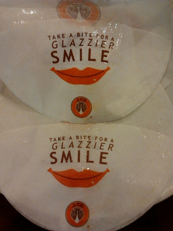 a slogan from jco donuts when i was eating and drinking there,beautiful word i thought...