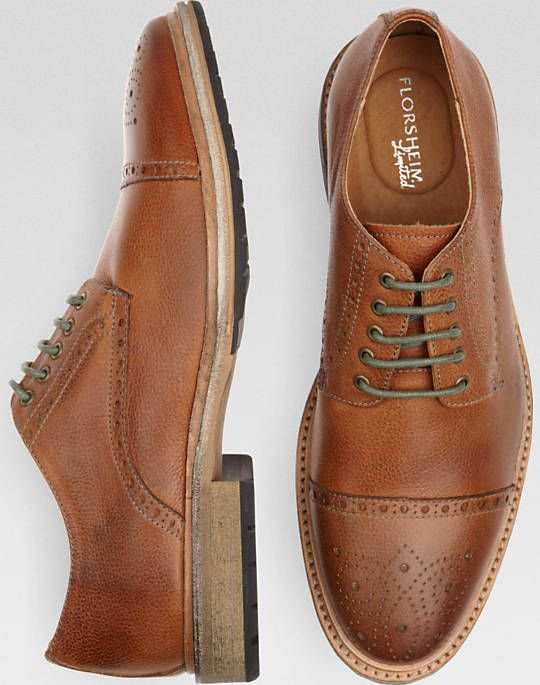 Florsheim Indie Ox Cap toe - Taupe  Dig the green laces. Would look good on my brown leather wingtips.