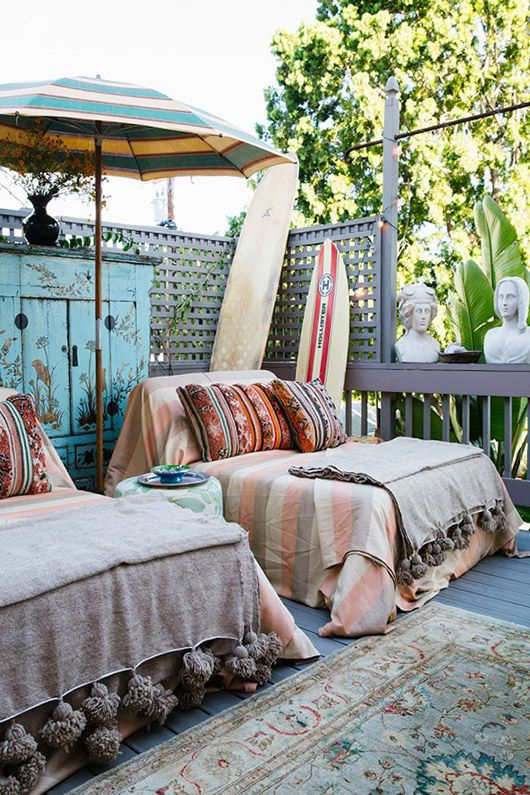 beachy outdoor decor. / sfgirlbybay
