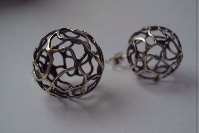 Fragile Collection Silver studs