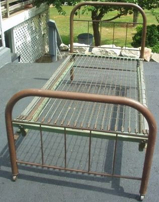 vintage antique classic twin iron metal bed simmons original on ebay - Vintage Iron Bed Frames
