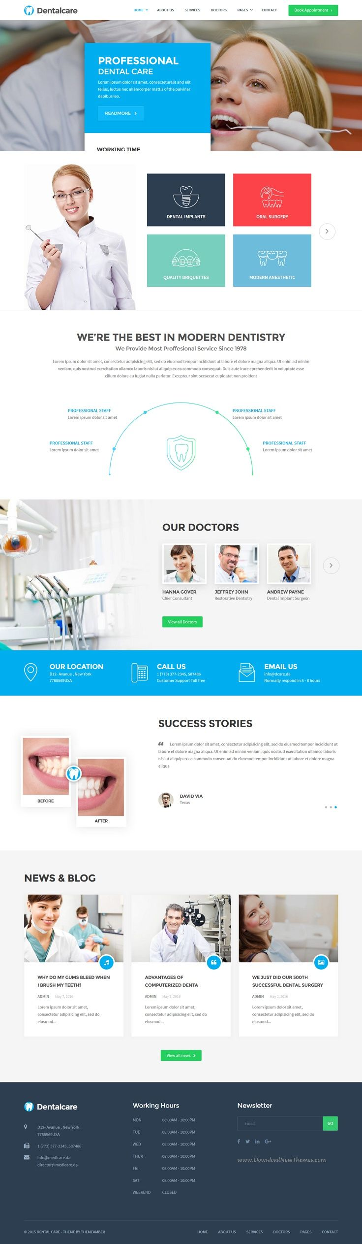 Dental care is perfect premium 2 in 1 #WordPress theme for #dental services, #dentists clinics responsive website download now➯ https://themeforest.net/item/dental-care-medical-dentist-health-wordpress-theme/16153351?ref=Datasata