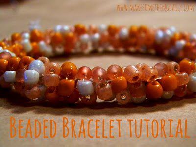 Make Something Daily: Easy Beaded Bracelet Tutorial
