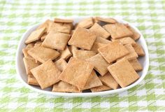 Homemade Wheat Thins Recipe on twopeasandtheirpod.com These crackers are easy to make at home and are better than store bought!