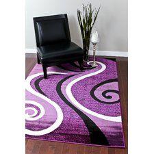 Abstract Purple Area Rug