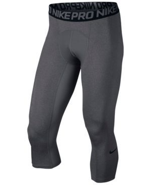 Nike Men's Pro Cool Dri-fit 3/4 Compression Leggings - Gray 2XL
