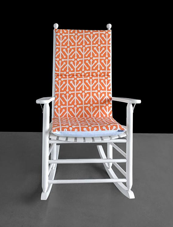 Orange Natural Aruba Rocking Chair Cushion Cover