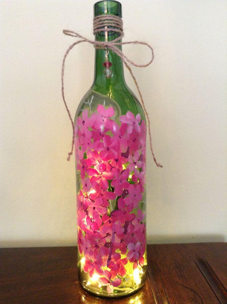 手机壳定制shoe models in the philippines Hand Painted Wine Bottle Light