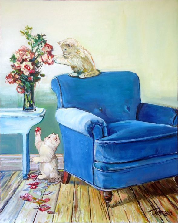 Buy Pets n Petals, Oil painting by Timothy Adam Matthews on Artfinder. Discover thousands of other original paintings, prints, sculptures and photography from independent artists.