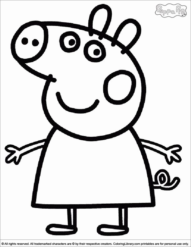 24 Peppa Pig Printable Coloring Pages in 2020