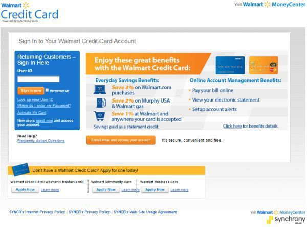 Walmart Credit Card Login to Manage Online Account