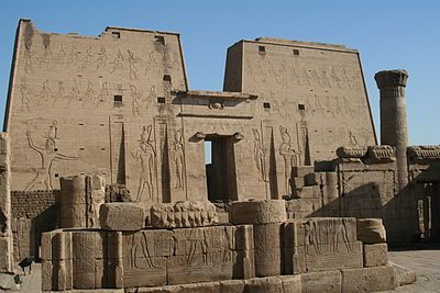 Ancient Egypt - The well preserved Temple of Horus at Edfu is an exemplar of Egyptian architecture.