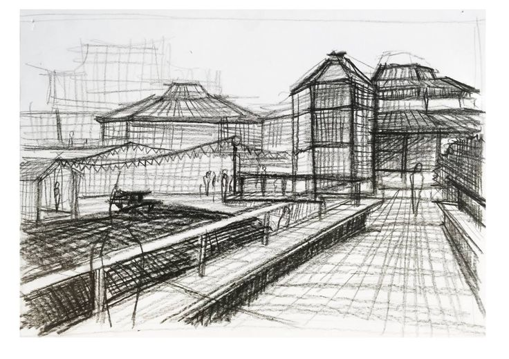 Emphasis on focal points, perspectives when experiencing a pathway. Precedent: Norman Foster.
