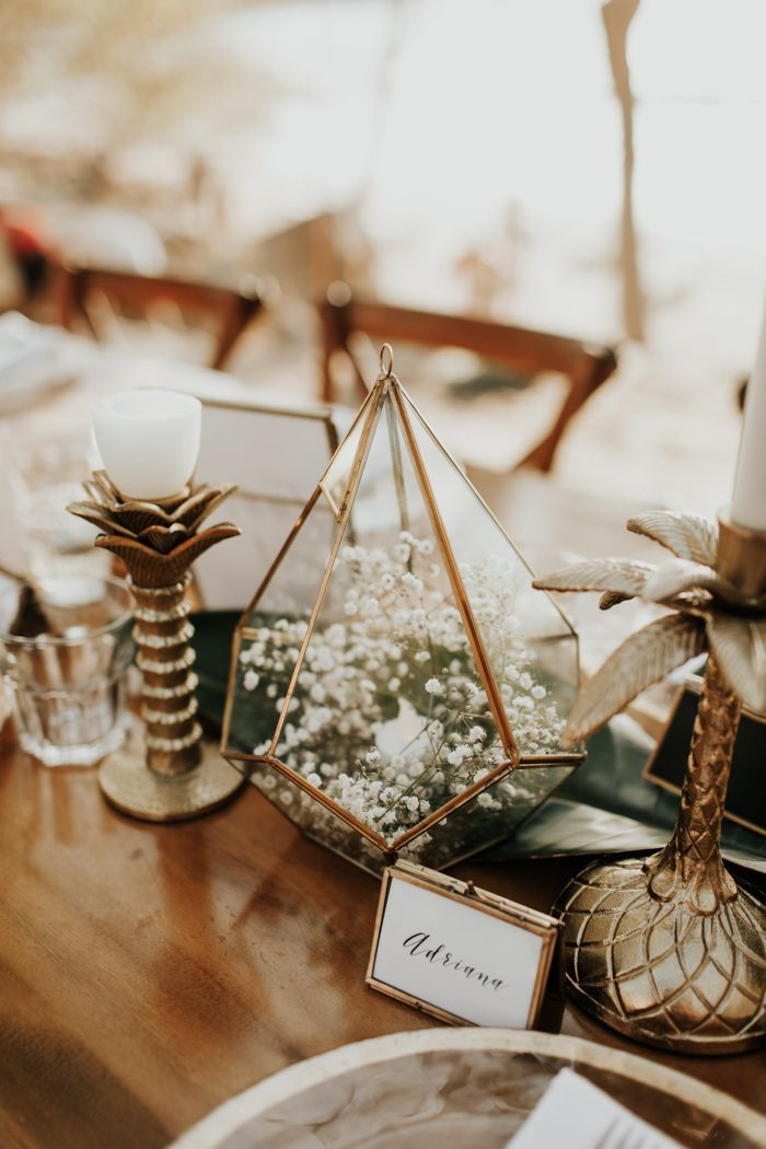 Simply Beautiful Beachfront Nosara, Costa Rica Wedding in White, Green, and Gold…