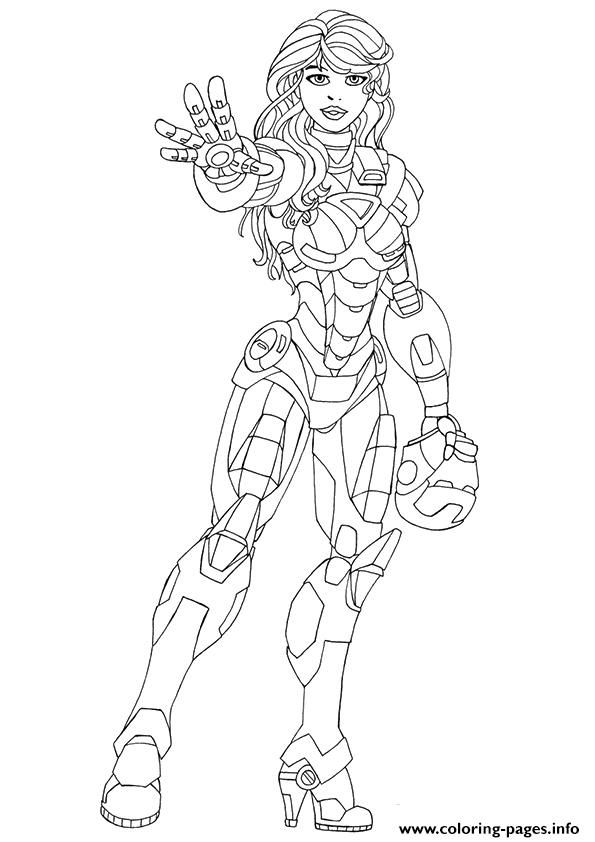 Print Pepper Potts a4 avengers marvel coloring pages ...