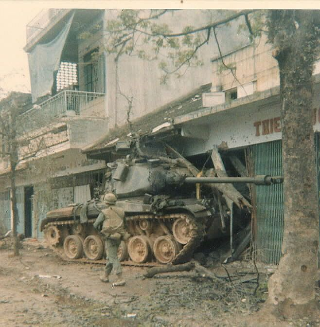 M-48 built into a building likely to attempt an evasive maneuver