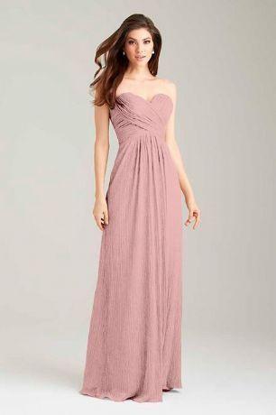 ELLA Dusky Blush Pink Strapless Long Evening Bridesmaid Wedding Ballgown Dress UK – Belle Boutique UK