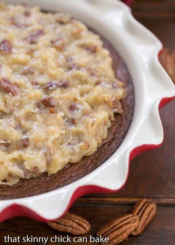 German Chocolate Brownie Pie