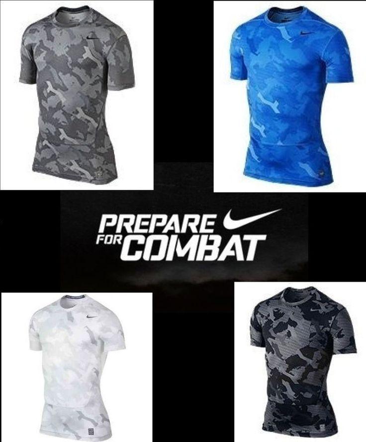 Nike Men's Dri-Fit Pro Combat Core 2.0 Compression Camo Shirt 543609 NWT #Nike #ShirtsTops