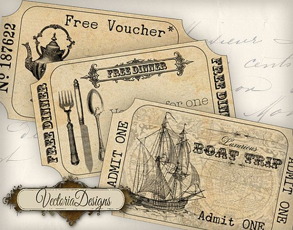 Free Tickets Sample Tickets printable images by VectoriaDesigns