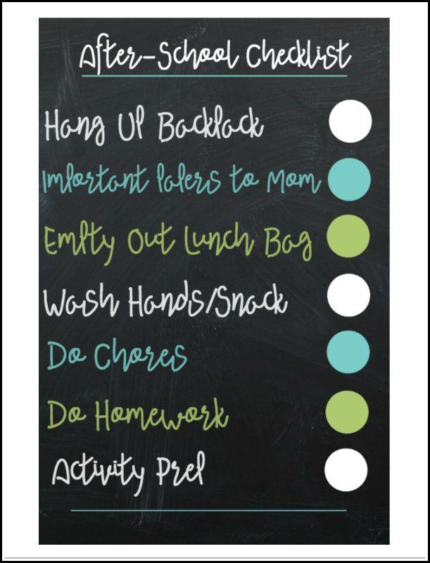Best 25+ After school checklist ideas on Pinterest School - creating checklist
