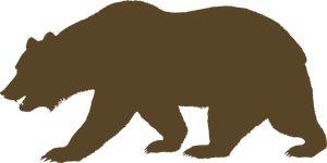 PublicDomainVectors.org-Vektorový obrázek medvěda z Kalifornie vlajky. Barevné ilustrace silhouette medvěda.