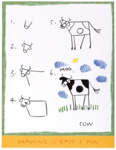 cow - hehe looks bit like my till cows come home logo @Julie Cleverley do you remember that x and Hop to Shop ;) wow I just remembered sitting with fizzy at yours before I even thought of doing anything like doing Monkeys ;) doodling xx