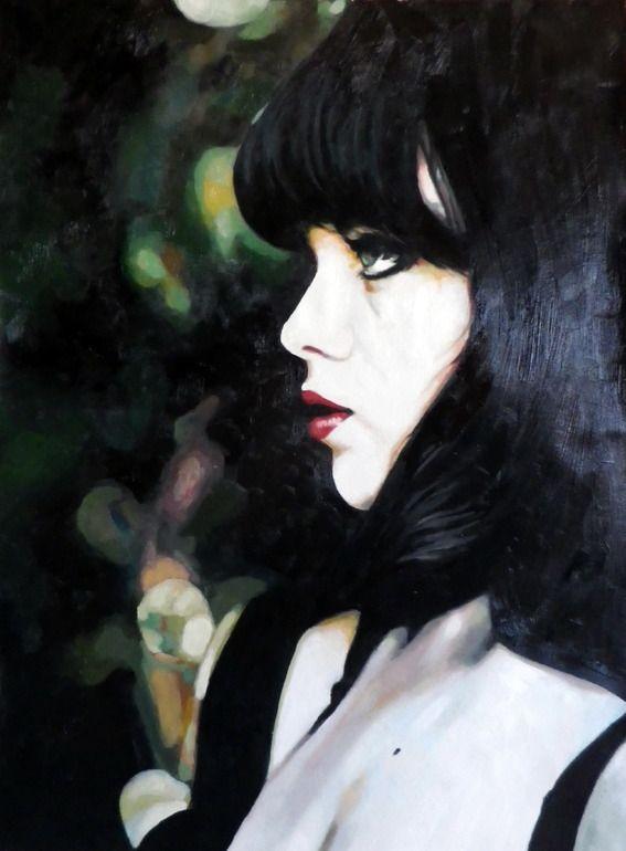 "thomas saliot; Oil, Painting ""Beauty spot"""