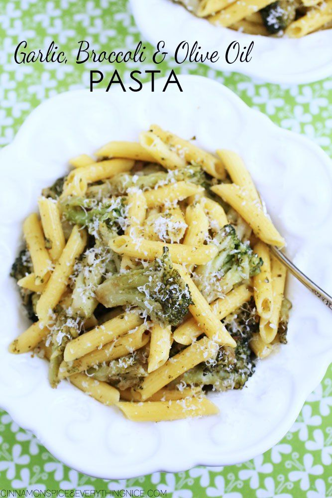 Garlic, Broccoli and Olive Oil Pasta